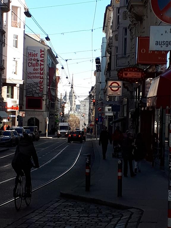 Blick in die Josefstädter Straße Richtung Innenstadt