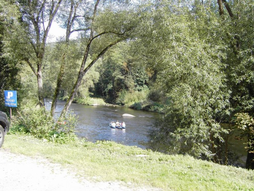 Canoeing in the Moldau River