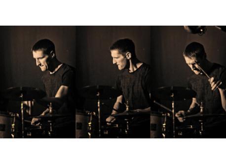 Fredi playing drums