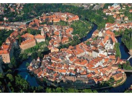 Krumau - nice medieval city in Czech Republic