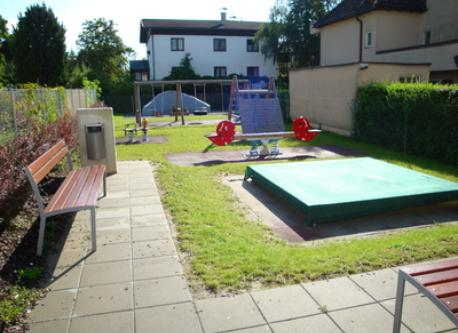 the playground that belongs to our housing complex