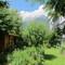 Garden with mountain view