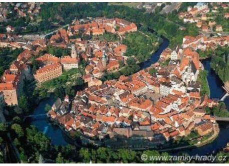 """The Czech town of Český Krumlov (the """"Jewel of South Bohemia""""), about an hour's drive away from our house"""
