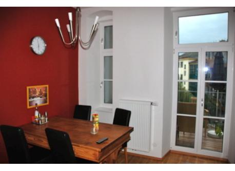 Dining-room with balcony