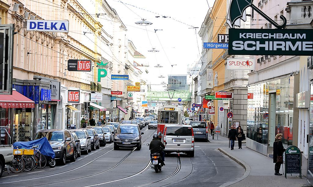 Währingerstrasse, many shops, tram to citycenter