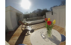 Newly renovated roof terrace