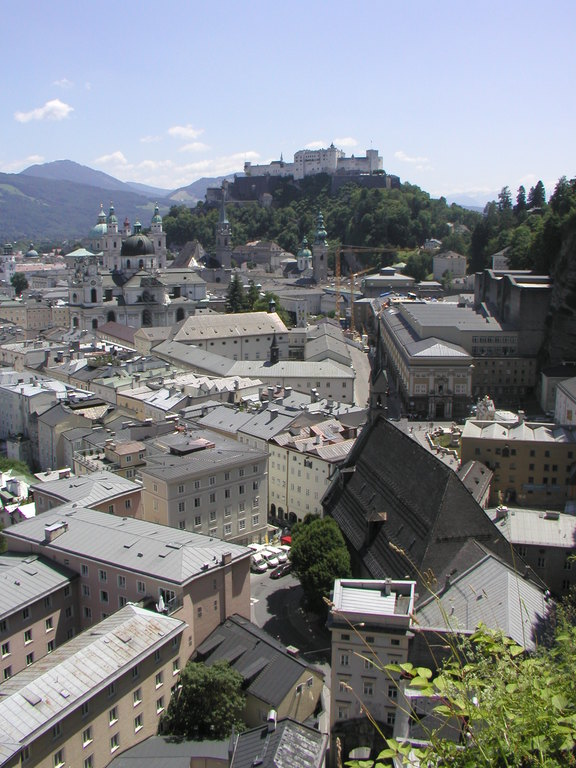 Salzburg: view from Museum of Modern Art