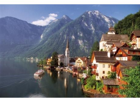 the famous Hallstatt in Upper Austria