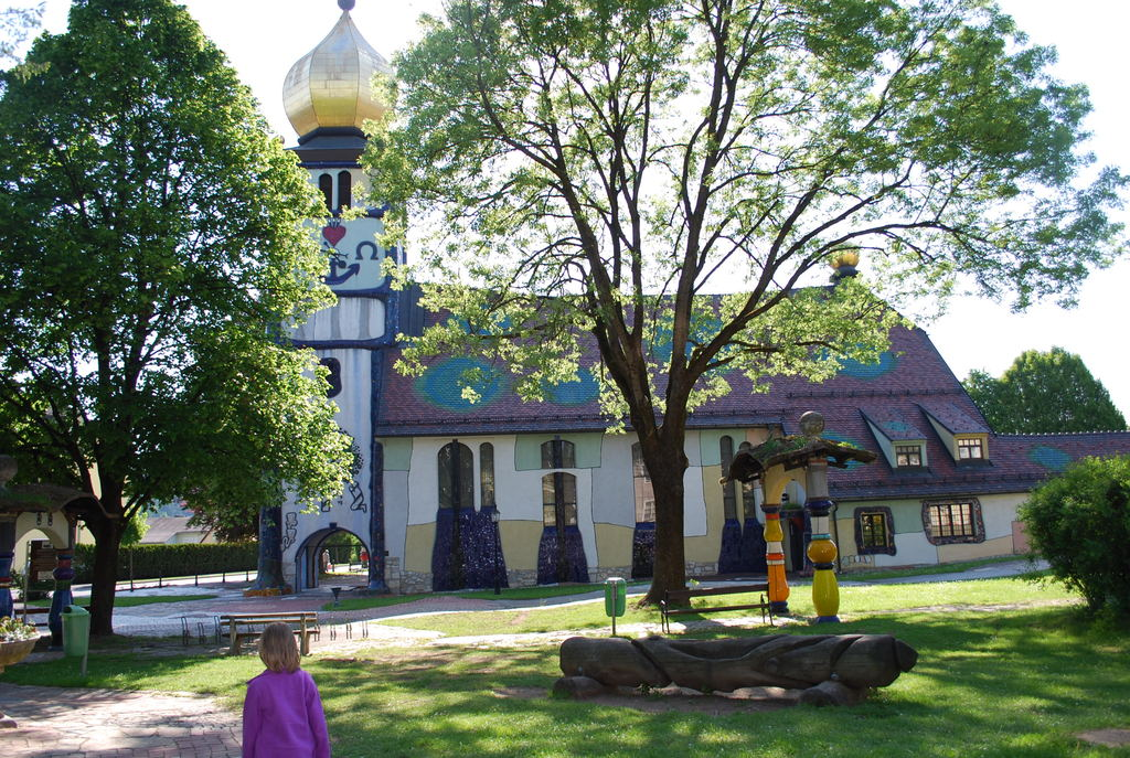 St. Barbara Church in Bärnbach is a colorful church, designed by the master Friedensreich Hundertwasser