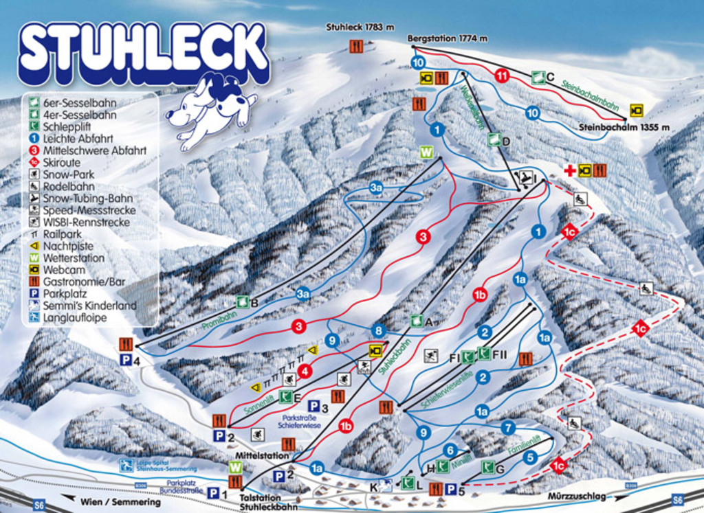Stuhleck only 1h15 min away nice skiingresort