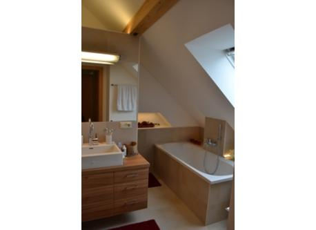 upstairs bath with second shower and bathtub, extra toilet