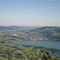 view from Schafberg - lake Mondsee and Lake Irrsee in the background - our house is in the middle of the two lakes