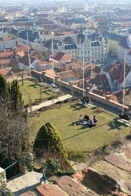 Castle hill in Graz (copyright Pam)