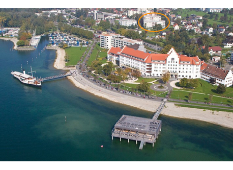 The flat is located in LOCHAU on the Lake of Constance