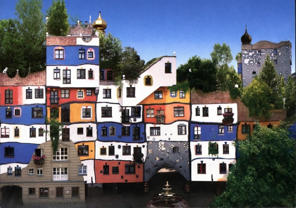 Hundertwasserhaus - walk there from our place!