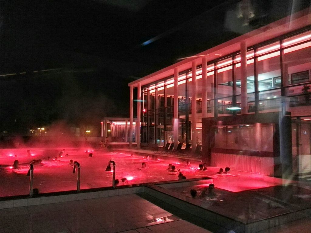 Thermal spa & sauna in the evening (Bad Reichenhall)