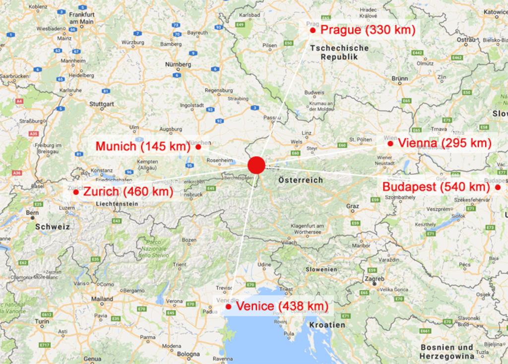 Located in the heart of Europe, between Germany, Italy and Switzerland