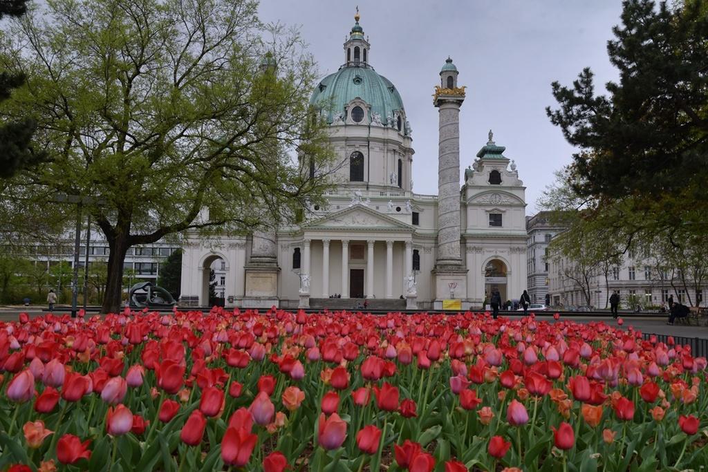 Karlsplatz in spring