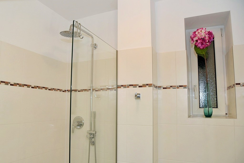 Shower in first bathroom
