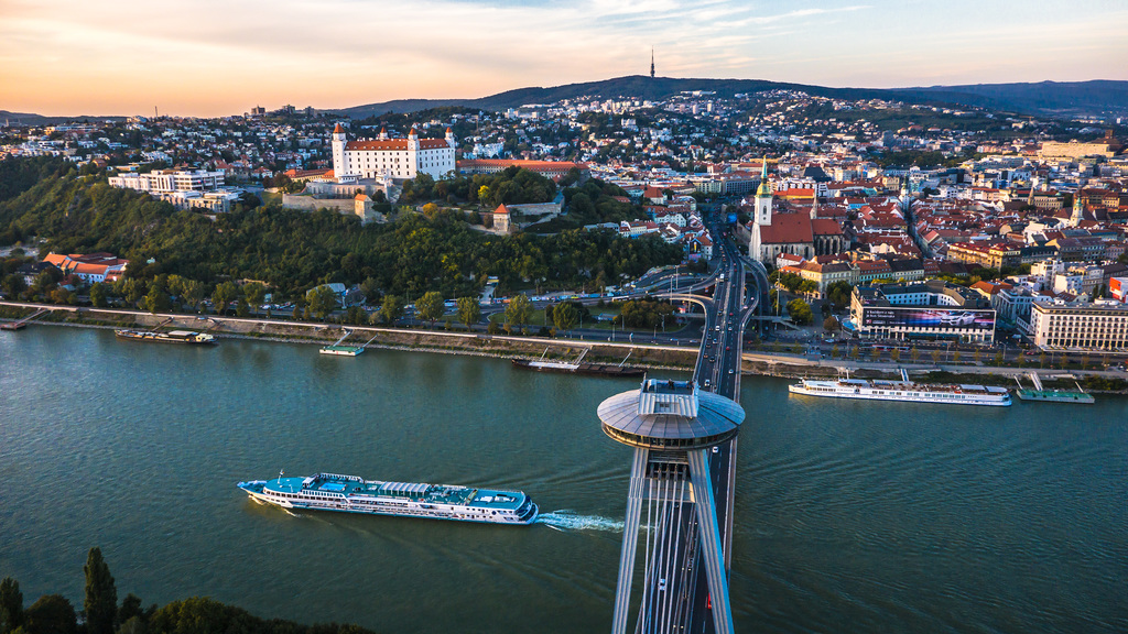 Bratislava, Slovakia's capital, a one-day-excursion by boat