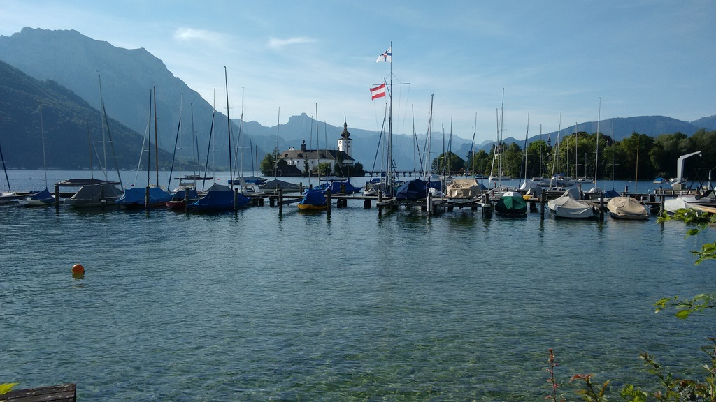 Castle Ort seen from Esplanade Gmunden