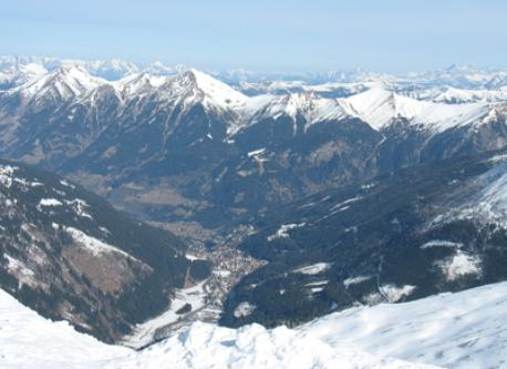 from Sportgastein you can see Bad Gastein