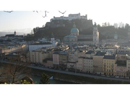 Festung Hohensalzburg in the city