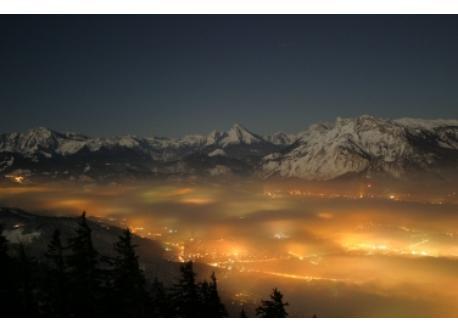 Salzburg with mountains