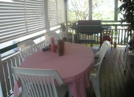 verandah off kitchen with barbecue