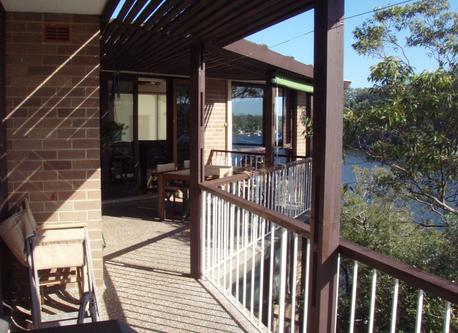 Balcony overlooking Lane Cove River