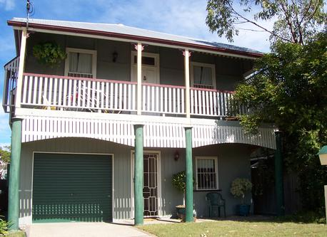 Our home on the top of the hill - a 'Queenslander' style house