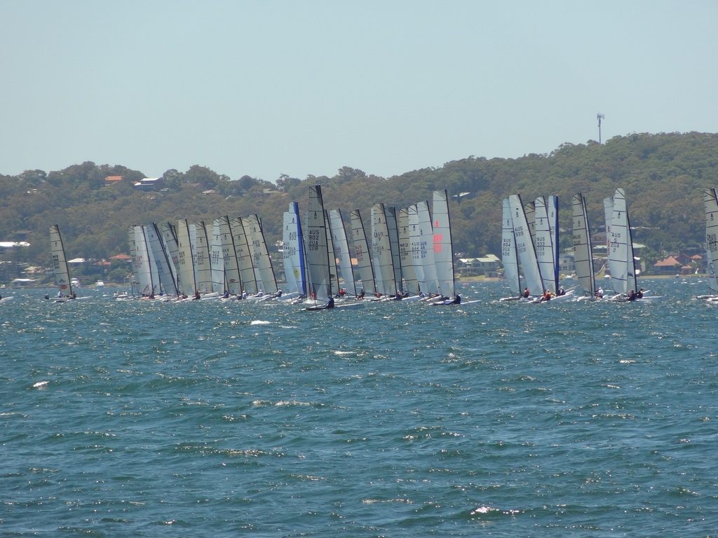 Regatta at nearby Wangi Wangi Sailing Club