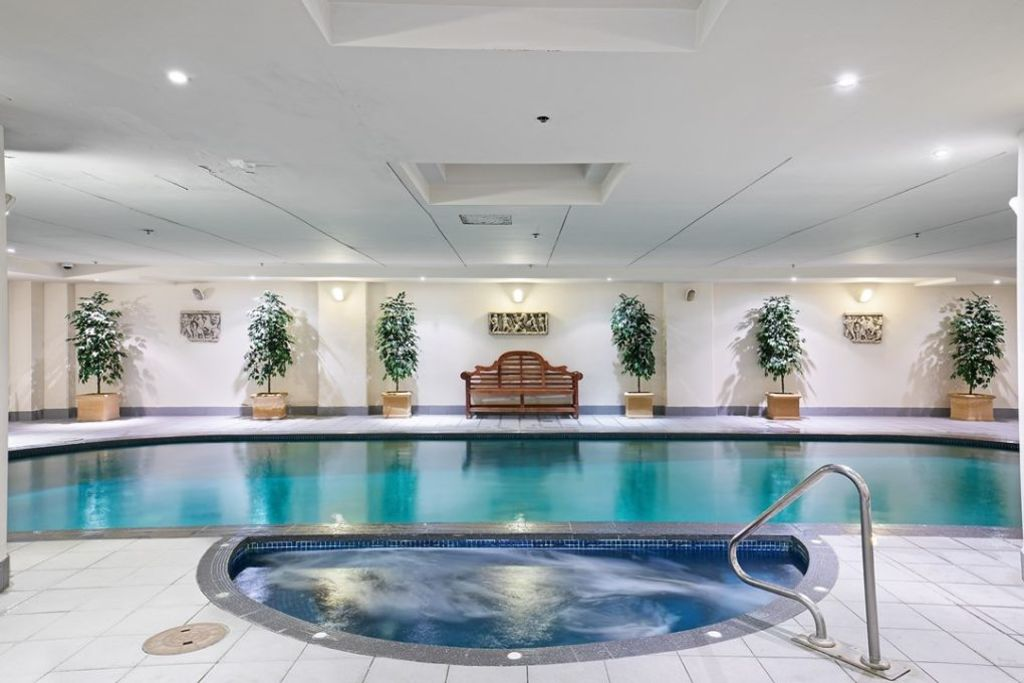 The heated pool and spa.