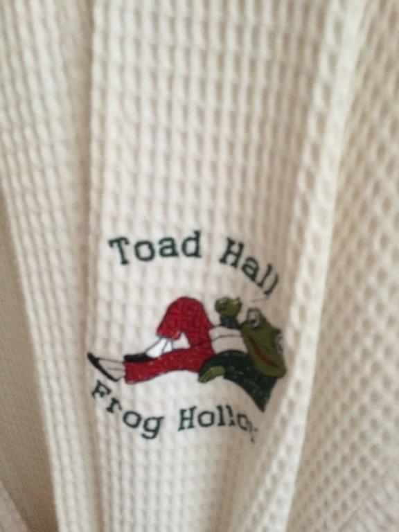 Even monogrammed bath robes.