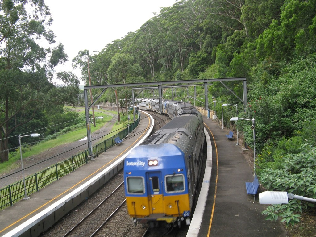 Sydney-Wollongong train passing Otford