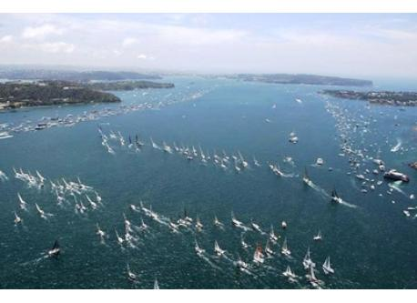 Start of the Sydney to Hobart Yacht race