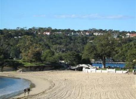 Balmoral Beach - our house in on the hill above