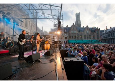 open air concerts in town in summertime