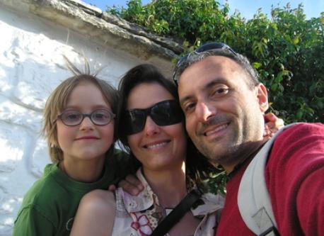 Vito, Dominique and  Elias in 2009 - Alberobello Italy