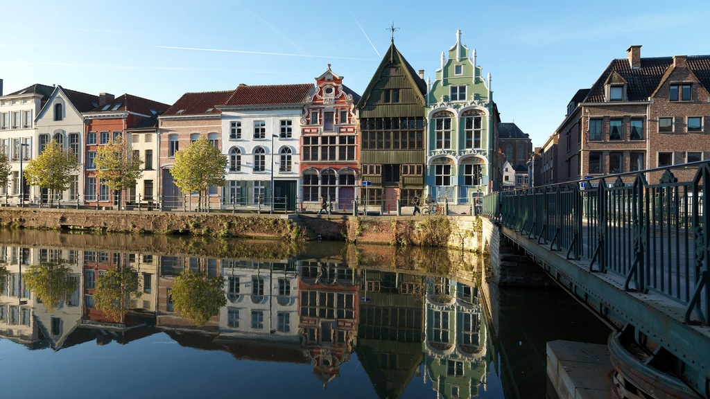Mechelen, the river 'Dijle'