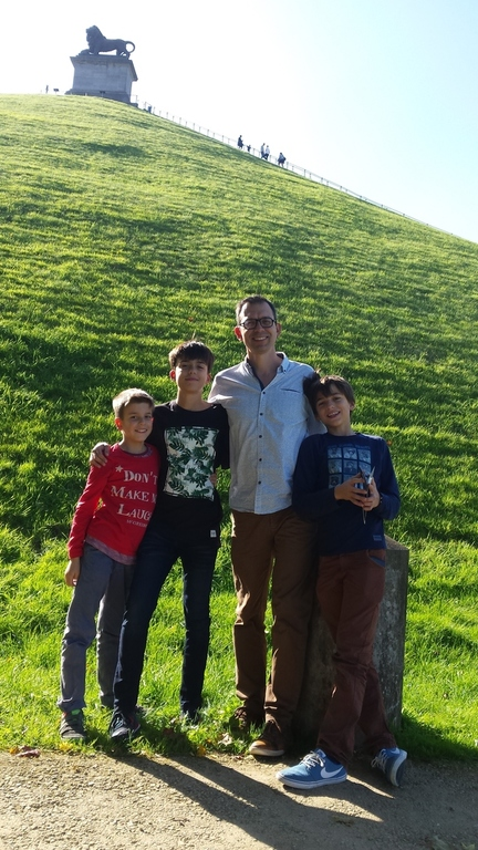 Ben and the children, during our visit to Waterloo (1 hour away)