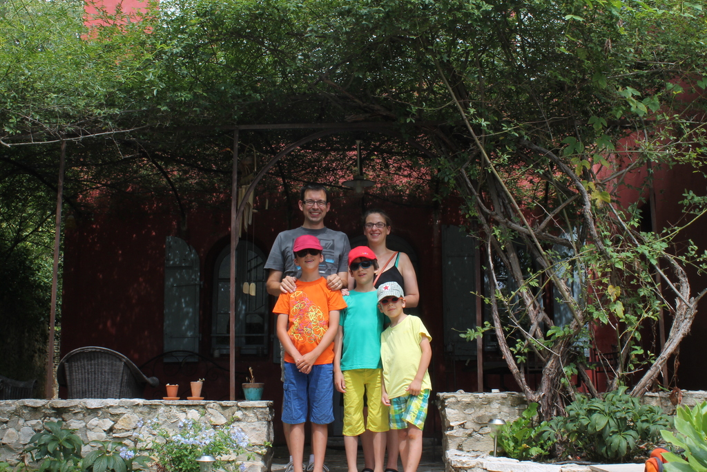 Our family, summer 2014 in Nîmes, France