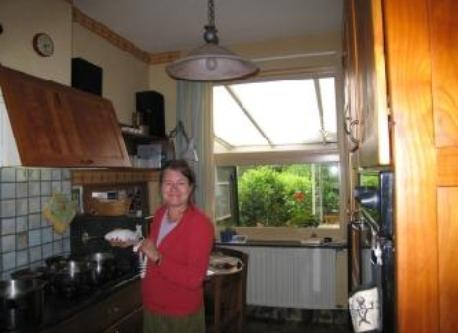 Denise in the kitchen