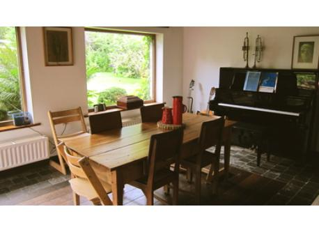dining room with excellent piano!