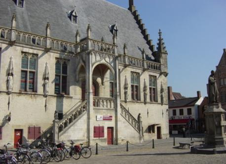 Townhall of Damme, lovely little town