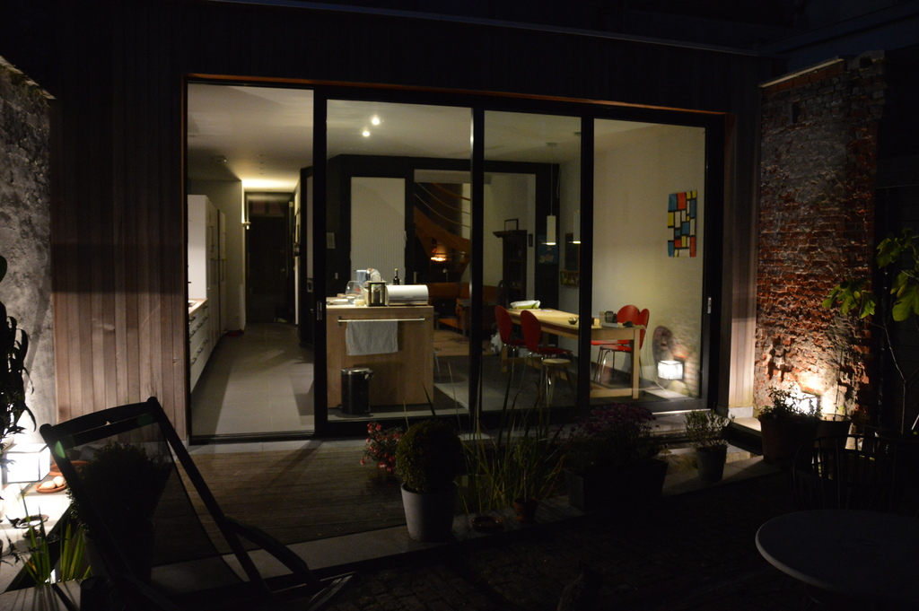 Yard by night