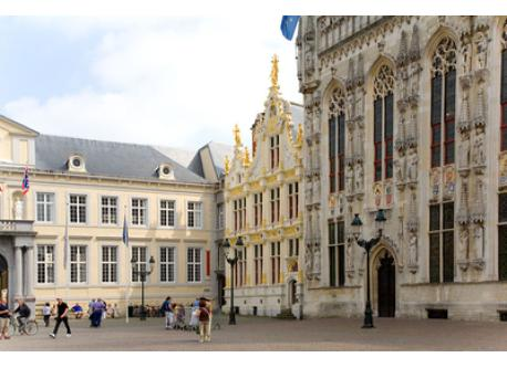 Burg of Brugge, one of the most important places, 2 kilometers away.