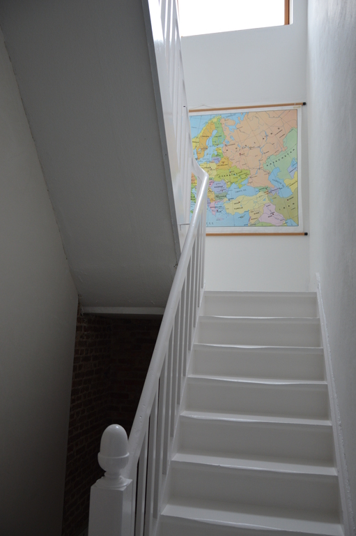 Up to the second floor