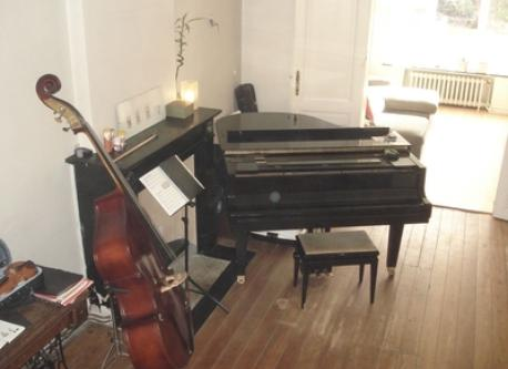 grand piano and double bass