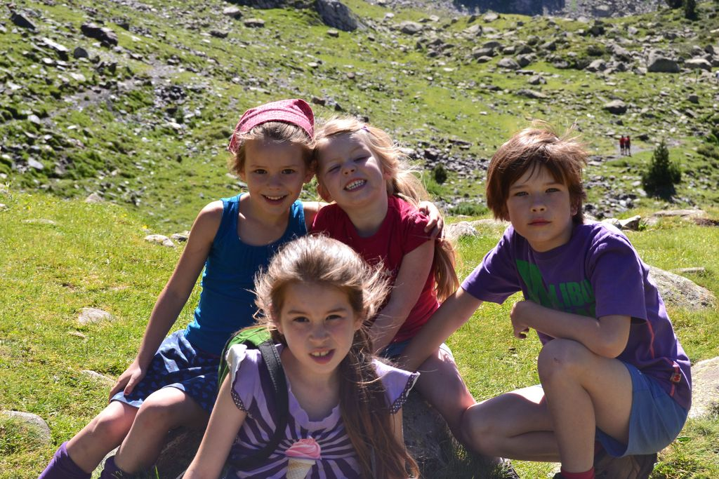 our four kids in Spain.